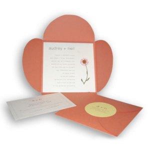 audrey petal fold invitation