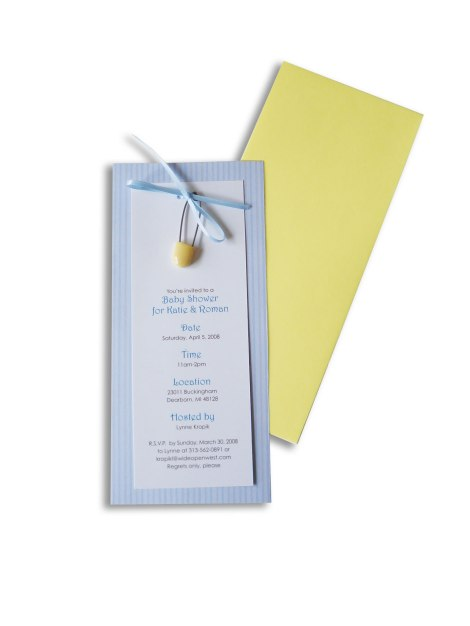 invite your friends with this sweet baby boy shower invitation