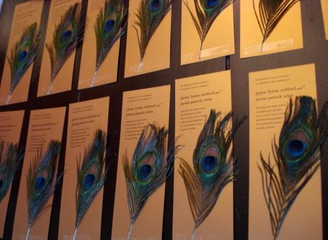 decadent peacock feather invitees