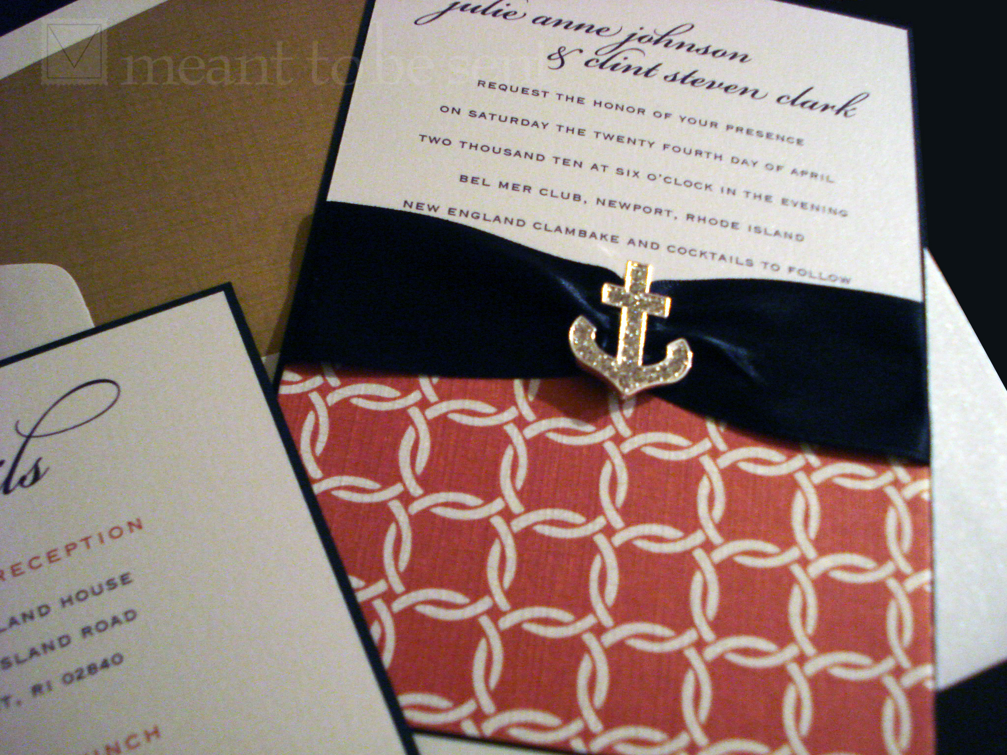 nautical wedding invitation |